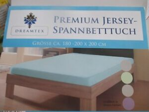 Premium-Jersey-Spannbettlaken-97-Baumwolle-und-3-Elasten-100-200-140-200-180-2
