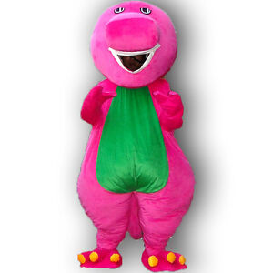 Image is loading Barney-Mascot-Costume-Halloween-Party-Outfits-Fancy-Dress-  sc 1 st  eBay & Barney Mascot Costume Halloween Party Outfits Fancy Dress Cosplay ...