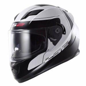 LS2-FF320-Stream-Lunar-Motorcycle-Motorbike-Helmet-White-Black-Large
