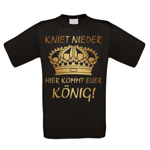 """Señores t-shirt modelo /""""aquí viene vuestro rey/"""" 100/% algodón nuevo"""