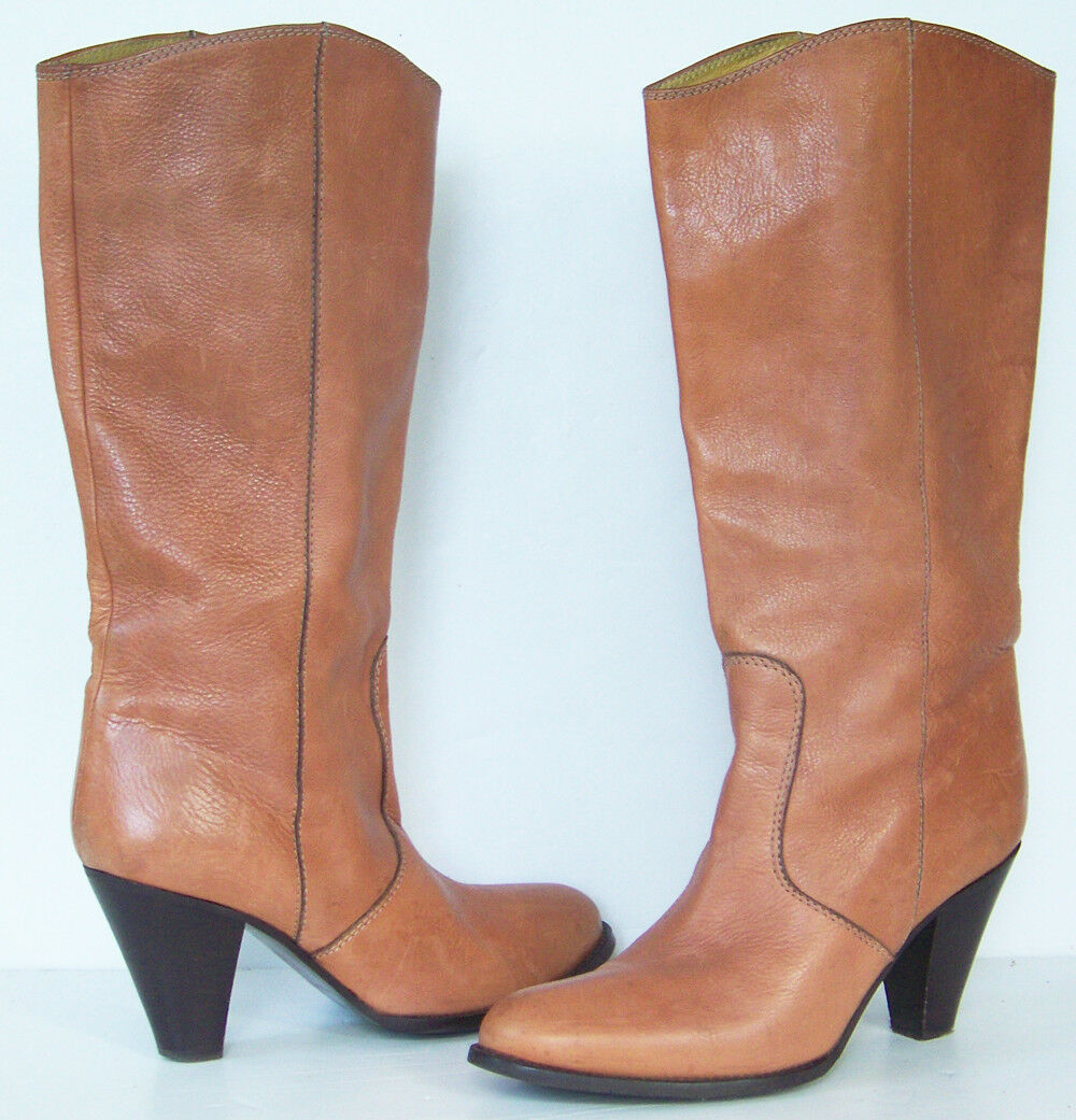 MADEWELL 1937 soft pebbled LEATHER pull-on BOOTS 87696 size 9 9 9 made in ITALY 4acbe8