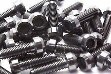 10x Titanium Black Bolts for BBS Split Rim Wheels, M7 x 24mm for RX2, RS2...
