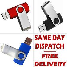 Memory Stick 8GB USB 2.0 Swivel Flash Pen Drive Thumb for PC Laptop TV Box etc