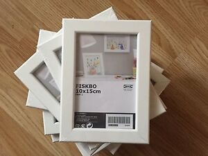 Details about 10 x IKEA FISKBO Picture Art Frames 10 x15 cm 4x6inches WHITE  - £16 99 FREE P&P