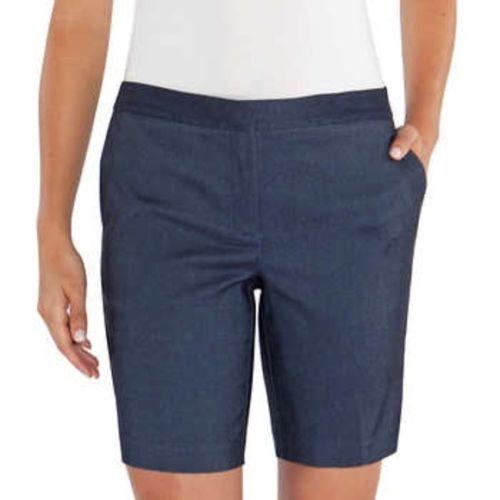 Mario Serrani Comfort Stretch Womens Tummy Control Fashion Dress Bermuda Shorts
