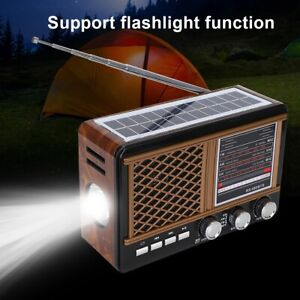 Solar-Radio-Bluetooth-FM-AM-SW-Lautsprecher-Musikbox-MP3-Player-4W