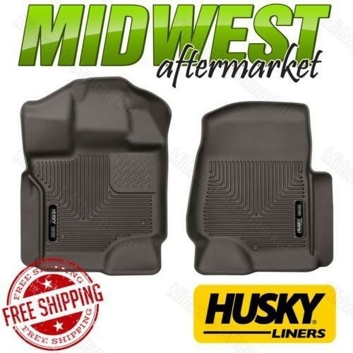 Husky Liners X-act Contour Cocoa Front Floor Mats For 2017-2018 Ford F250 F350