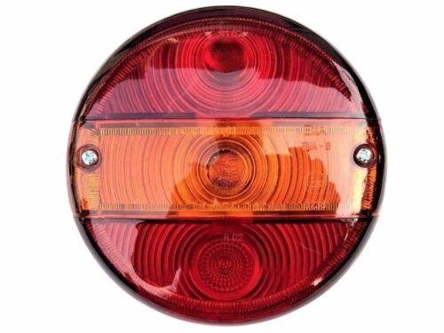 Rund Rückleuchte mit Blinker ⌀140 für Traktor LKW PKW Anhänger mit Glühbirnen