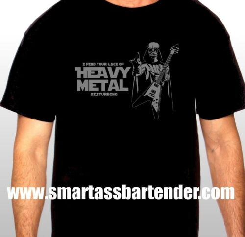 "Darth Vader /""I Find Your Lack Of Heavy Metal Disturbing/"" T-shirt  *Star Wars*"