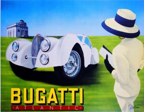 French Bugatti Atlantic Automobile Car Vintage Advertisement Art Poster Print