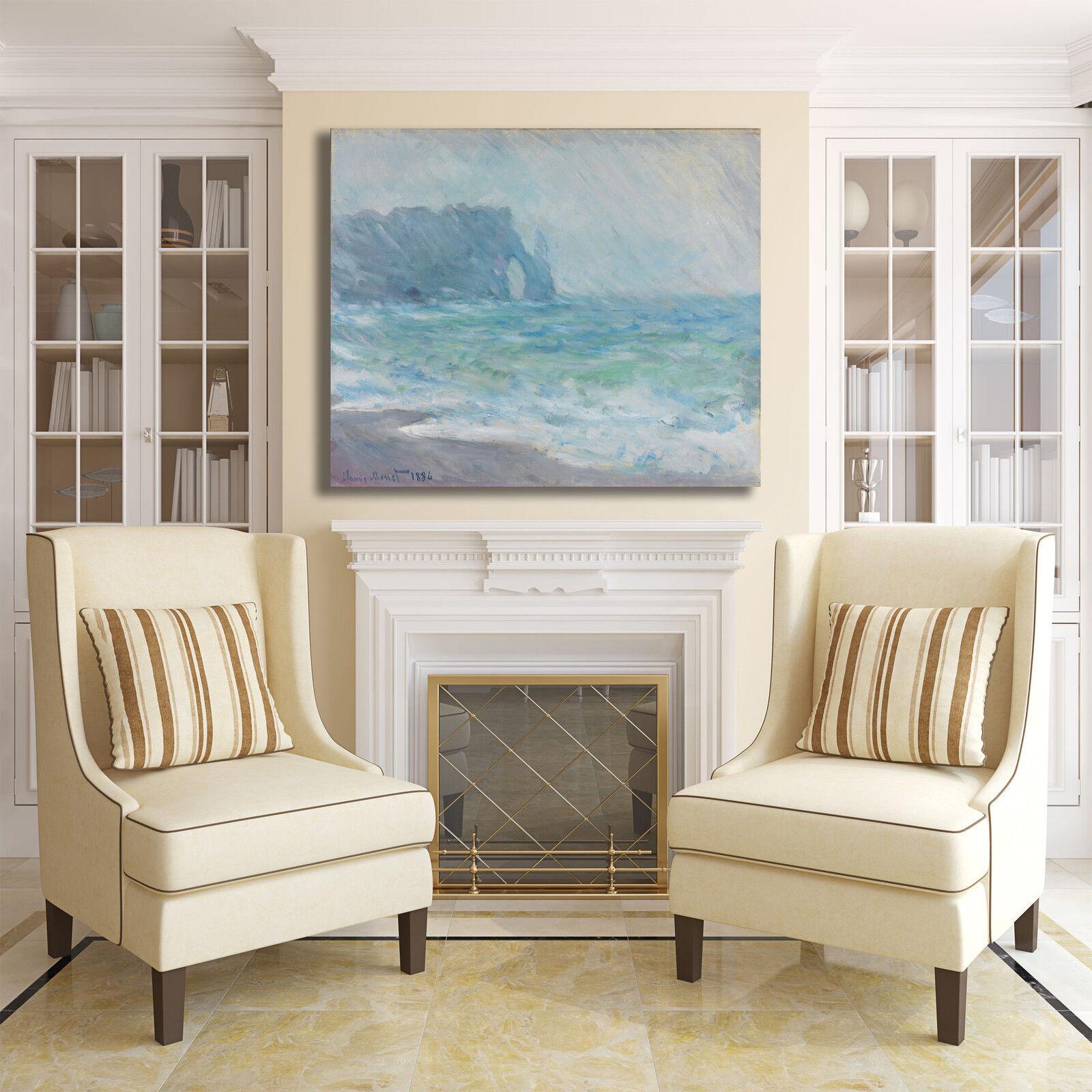 Monet Etretat design quadro stampa tela dipinto dipinto dipinto telaio arrossoo casa eb5fa7