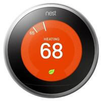 Nest 3rd Generation - Learning Thermostat - 3h/2c - 7-day Programmable