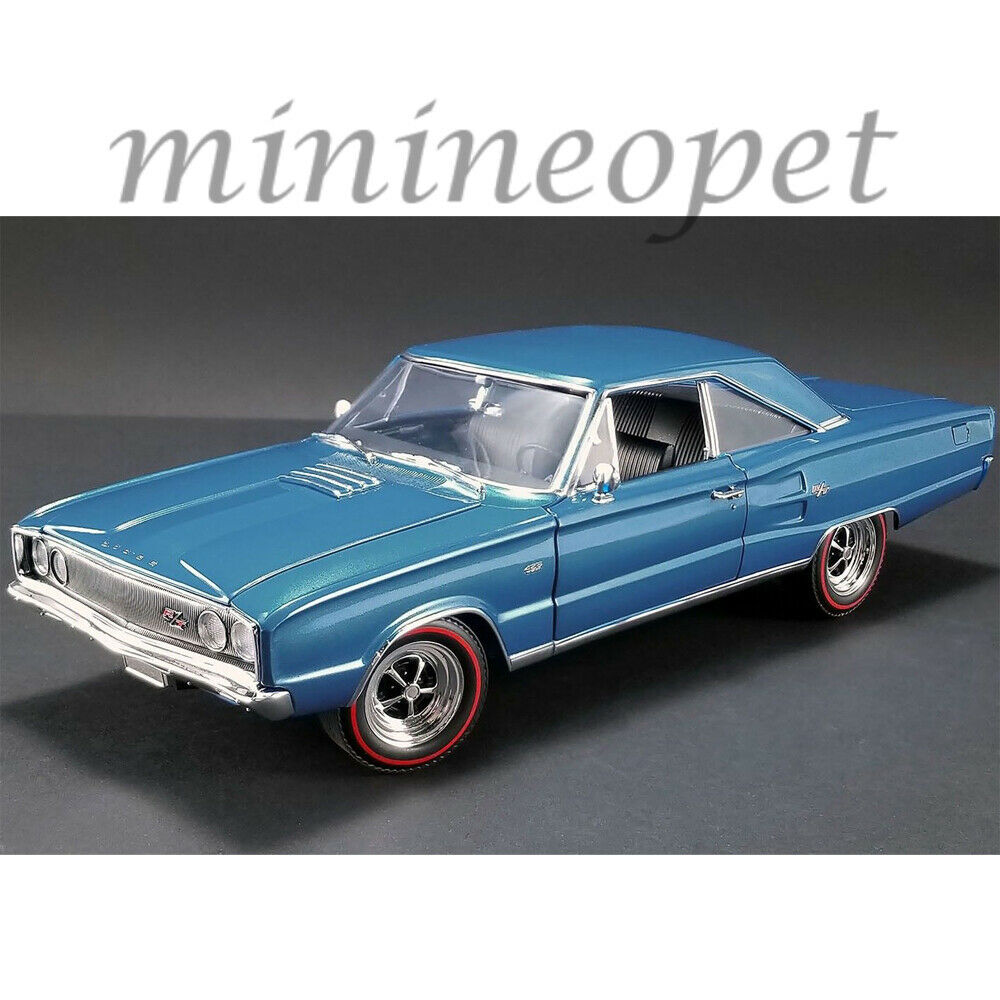 ACME A1806601 1967 DODGE CgoldNET R T 1 18 DIECAST MODEL CAR blueE
