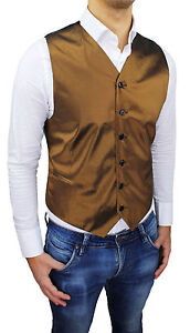 in stock low cost release info on Détails sur Élégant Gilet Homme Diamond Jaune Moutarde Tissu Poli Sartorial  Made IN Italy