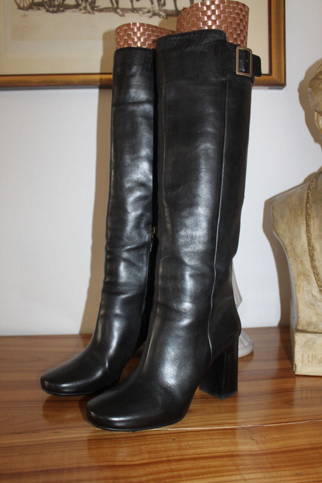 Damen Prada Original Schuhe Stiefel Boots Gr.39 38,5 Stiefeletten