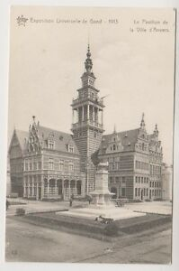Gand Exhibition 1913 postcard - Le Pavillon de la Ville d'Anvers (A85)