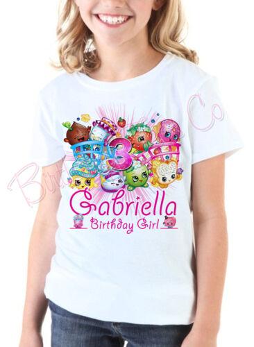 Shopkins Birthday Shirt Custom Name and Age Personalized Shopkins shirt