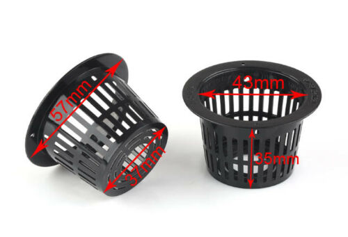 Lot X Mesh Pot Net Cup Basket Hydroponic Aeroponic Plant Grow Clone Kit Hanging