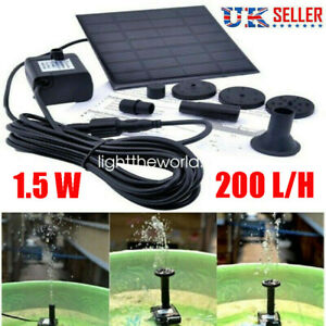 Solar-Panel-Powered-Water-Feature-Pump-Garden-Pool-Pond-Aquarium-Fountain-200L-H