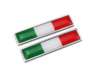 Alfa-Romeo-Italian-Flag-Door-Pillar-Wing-Badges-Emblem-Fiat-Panda-500L-Punto-500