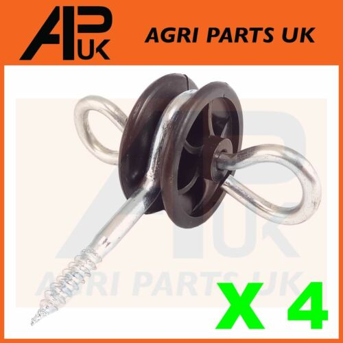 4 x Electric Fence Gate Handle Insulators Anchors Tape Screw Poly Rope Fencing