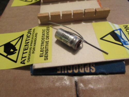 1pc 50uF Sprague 30D TE-1133 USA Axial Capacitor New Old Stock Qty 12DC