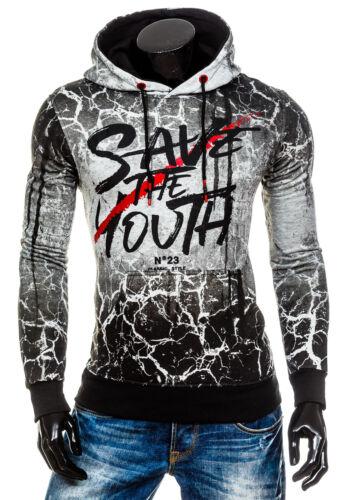 BOLF Uomo Felpa con Cappuccio Hoodie Maglia Sweatshirt Pullover 1A1 Grafico