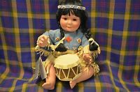 Vintage Danbury Mint 1992 Indian Doll-Song of the Souix, Perillo Native American