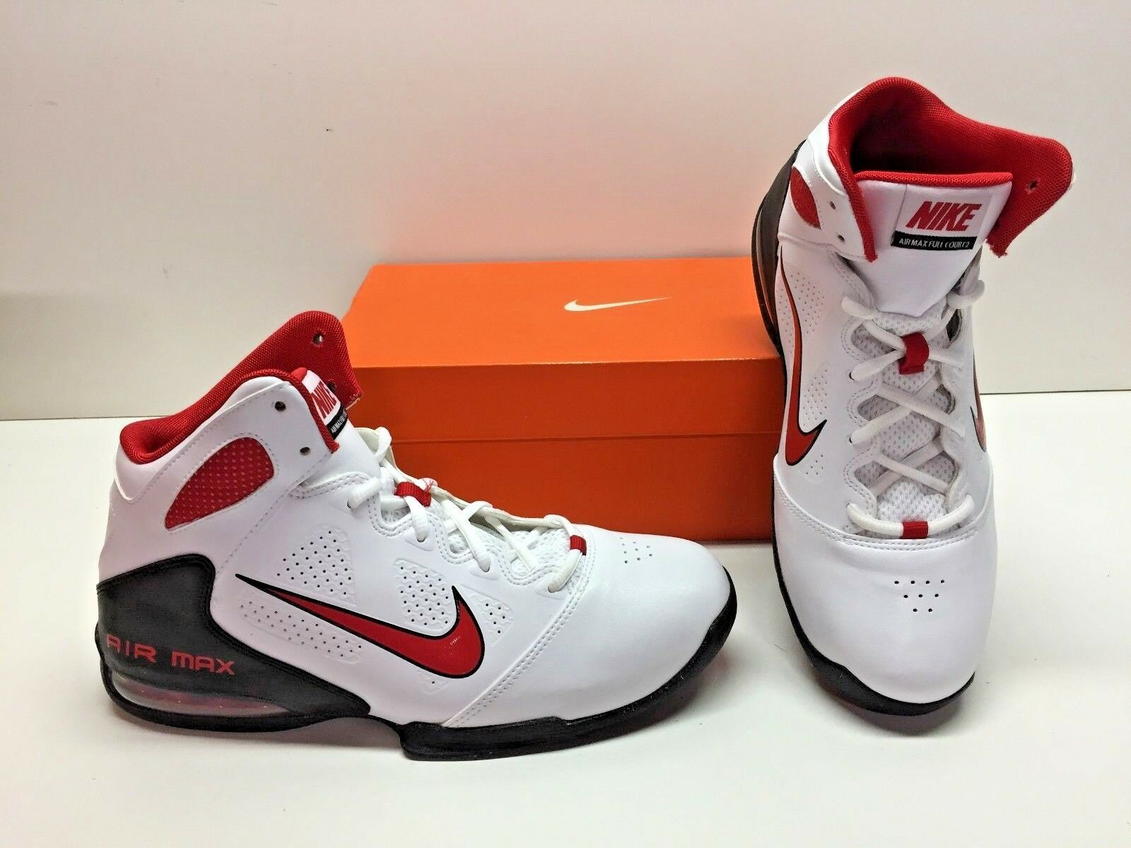 Nike Air Max Full Court 2 II Basketball White Athletic Sneakers Shoes Mens 8