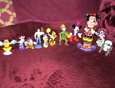 Vintage lot of 14 Disney characters Minatures Minie Mickie Donald fox 2 souvenir
