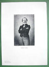 TOMASSO SALVINI Italian Actor - Antique Portrait Print