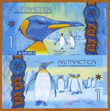 Antarctica, $1, 2015 (2016), Clear Window Polymer, New Design, UNC