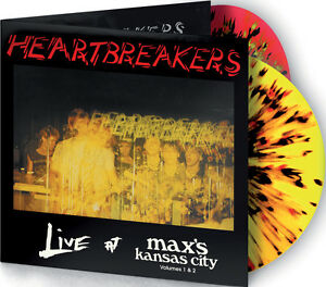 HEARTBREAKERS-039-Live-at-Max-039-s-Vols-1-amp-2-039-2LP-spattered-vinyl-new-Johnny-Thunders