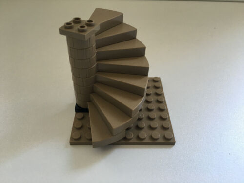 LEGO Staircase Dark Tan Colour Brand New Base 8x8 plate not included