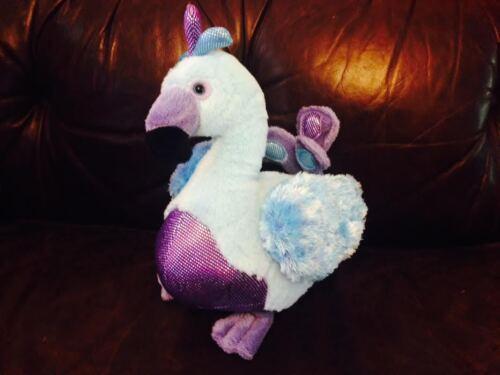 "GANZ Webkinz Blufadoodle HM453 Blue/Purple Plush Peacock 8"" Bird no code"