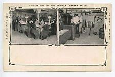 Boston MA Butler's Pure Soda  Ice Cream Originators The Banana Split Postcard