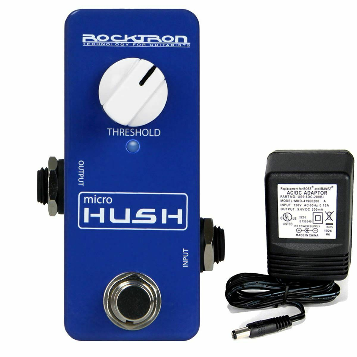Rocktron MicroHUSH Guitar Noise Reduction pedal w/ 9v power supply