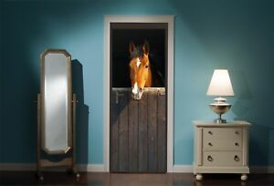 Door-Mural-Horse-Horses-Stable-View-Wall-Stickers-Decal-Wallpaper-44