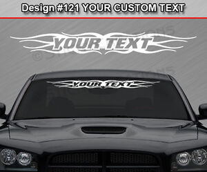 Design Custom Windshield Tribal Flame Vinyl Decal Sticker - Car windshield decals customcustom window decals