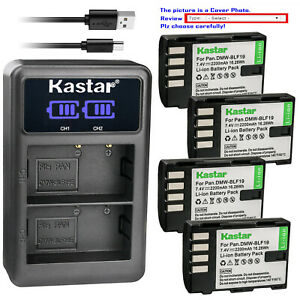 Kastar-Battery-LCD-Dual-Charger-for-Panasonic-DMW-BLF19-BLF19E-Panasonic-DC-GH5S