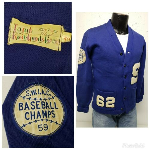 Vintage 50's 100% Wool Varsity Letterman Sweater C