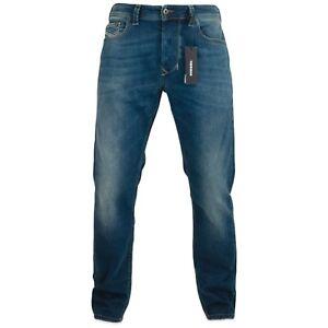 the best attitude 1c602 2dabe Dettagli su Diesel Jeans - Uomo Larkee-Beex Modello Affusolato - 084BU -  Nuovo con Etichetta