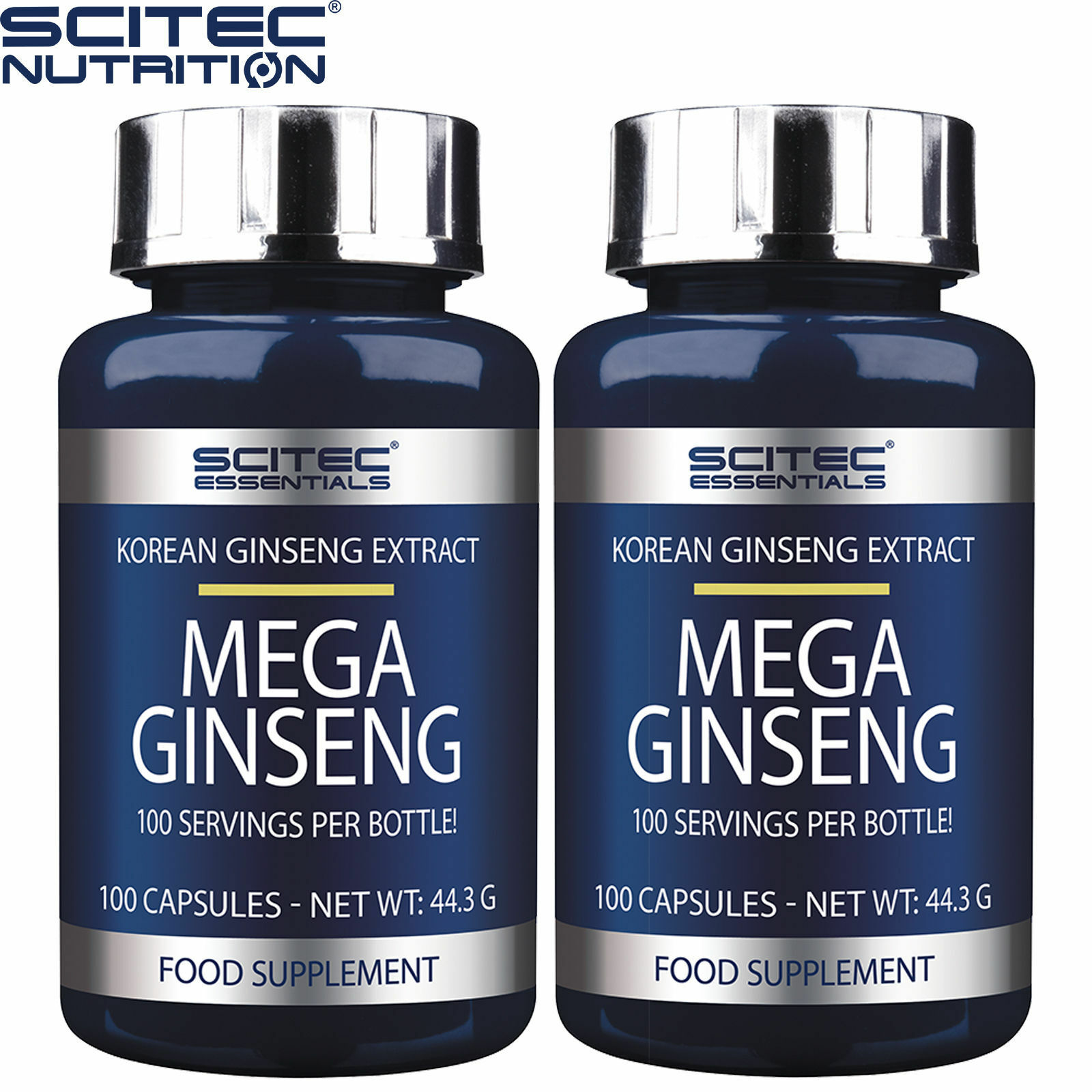 Mega Ginseng 100-300 Caps Korean Ginseng Extract Extract Ginseng Panax Energy Wellbeing Health 376780