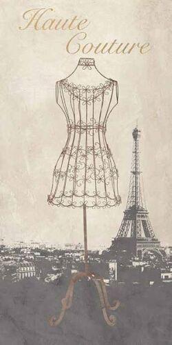 Remy Dellal Haute Couture Keilrahmen-Bild Leinwand Mode Paris Fashion France