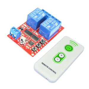 2-Channel-12V-IR-Receiver-Relay-Driver-Board-Module-White-Remote-Control