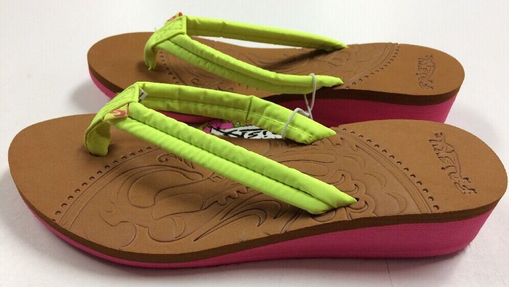 Frisky Ladies Size Wedge Flip Flops Sandals Size Ladies 7 97b663