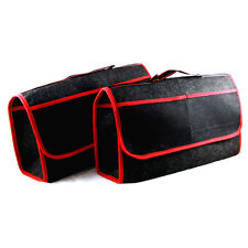 2 x Handy Car Boot Storage Bag Velcro Organiser for Tools Oil Screenwash Travel