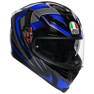 CASCO-INTEGRALE-AGV-K-5-S-HURRICANE-2-0-BLACK-BLUE-TAGLIA-M-L