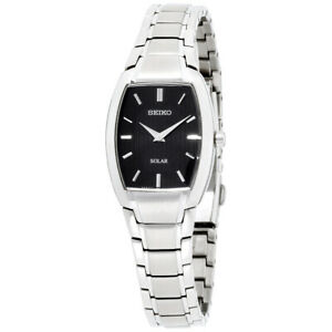 Seiko-Core-Black-Dial-Stainless-Steel-Ladies-Watch-SUP259