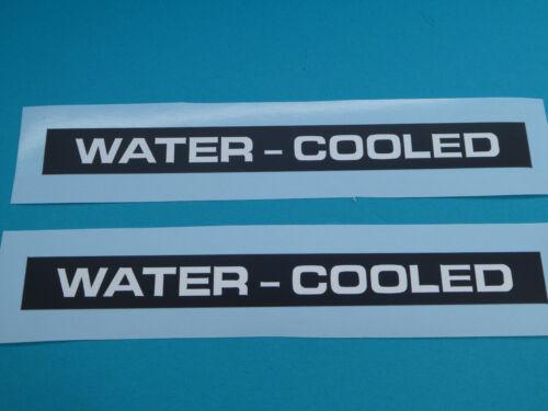 Zündapp Aufkleber Schriftzug Abziehbild Water-Cooled KS 50 WC Schwarz-Weiss